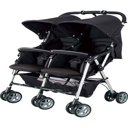 コンビ ツインスピン GC ブラック(BK)双子用/2人乗りベビーカー【14829】:赤ちゃんデパート