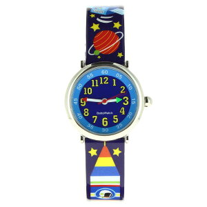 【ベビーウォッチ/babywatch】宇宙子ども用プリント柄ベルト腕時計「コフレ」/COFFRETespace【babywatchベイビーウォッチ子供用子ども用キッズウォッチ時計ギフトパリ】【楽ギフ_包装】