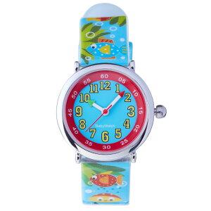 【ベビーウォッチ/babywatch】水辺の生物子ども用プリント柄ベルト腕時計「コフレ」/COFFRETaquatique【babywatchベイビーウォッチ子供用子ども用キッズウォッチ時計ギフトパリ】【楽ギフ_包装】