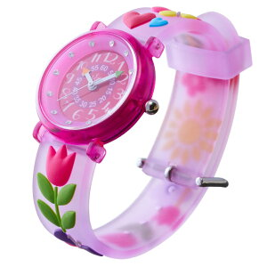 【ベビーウォッチ/babywatch】チューリップ子ども用3Dレリーフベルト腕時計「ザップ」/ZAPtulip【babywatchベイビーウォッチ子供用子ども用キッズウォッチ時計ギフトパリ】【楽ギフ_包装】