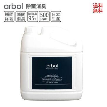 次亜塩素酸詰め替え用 Arbol(アルボル)(4000ml×1)除菌消臭 手指消毒剤