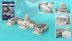 3Dパズル アメリカ合衆国議会議事堂 132ピース (CF704H)