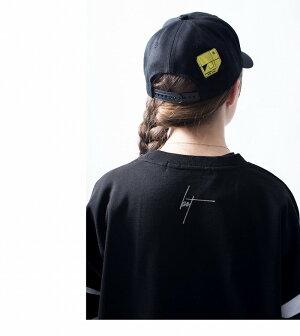 backsideoftokyo(バックサイドオブトーキョー)botラインキャップ帽子アクセサリーキャップ三本ラインロゴ刺繍モノトーンストリートカジュアルスポーツ