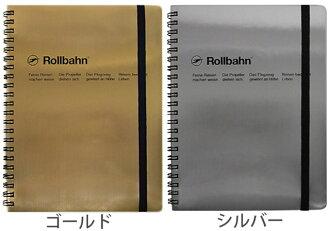 Rollbahn rorubampoketto在的筆記A5尺寸金屬DELFONICS戴爾Phonics Gold黄金Silver銀子Made in JAPAN日本製造方眼筆記本筆記本環筆記環式筆記本記事本