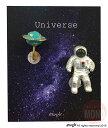 ガーグル gargle 宇宙飛行士と土星 イヤリングネジバネ式