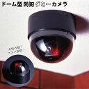 防犯カメラ ダミー 好評 屋外 家庭用 ワイヤレス 設置 監視 センサー ライト ドーム型 LED ランプ 侵入防止 フェイク 万引き防止 車上荒らし対策 電池 偽物 にせもの ダミー カメラ 赤色 セキュリティ 防犯 ダミーカメラ