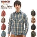 Camco ヘビー 通販/正規品 おすすめ 男性用 定番 メンズ 長袖 ギンガム シャツ ネル チェック フランネルシャツ ネルシャツ