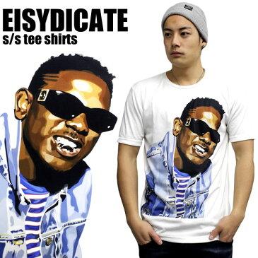 E1SYNDICATE イーワンシンジケート 半袖Tシャツ メンズ レディース ファッション ユニセックス Kendrick Lamar ケンドリック・ラマー 白 ホワイト 大きいサイズ アーティスト ヒップホップファッション ダンス 衣装