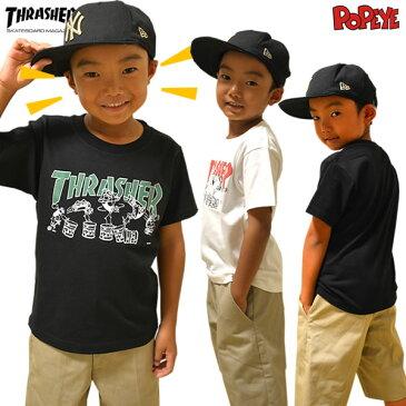 THRASHER スラッシャー 半袖Tシャツ キッズ SPINACH 3COLOR メンズ レディース 大きいサイズ 無地 スウェット すらっしゃー ストリート系 ファッション スケーター スノーボード HIPHOP b系 ダンス 衣装
