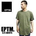 EPTM エピトミ 無地 Tシャツ ロング丈 半袖Tシャツ オリーブ メンズ レディース ロング丈 プレーン 大きいサイズ ビッグサイズ トレーナー 部屋着 アメリカ メンズ ストリート系 ファッション