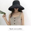 帽子 レディース UVカット ギンガムチェック つば広 折りたたみ ハット 春夏 サイズ調整可能 おしゃれ 可愛い サファリハット 紫外線 日よけ 帽子 UVケア UVハット UV対策 レディース帽子 1