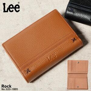 二つ折り財布 メンズ Lee リー レザー 縦型 320-1885