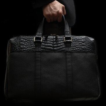【池田工芸】日本最大のクロコダイル専門店が贈るCrocodile Brief Bag(クロコダイル ブリーフバッグ) 【次回出荷日3月28日頃】