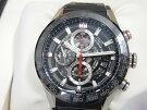 タグホイヤーカレラキャリバーホイヤー01CAR201V.FT604643mmブラックラバーベルト腕時計メンズクロノグラフ【中古】