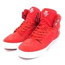 スープラ SUPRA スポーツ スニーカー ストリート セレブ ブランド スケートボード メンズ レッド/赤 VAIDER -RED×WHITE-
