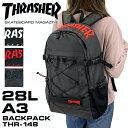THRASHER スラッシャー THR-148 バックパック デイパック リュックサック リュック A3 B4 28L 刺繍 3D刺繍 ...