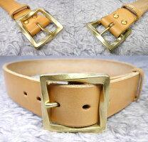 真鍮無垢ベルト幅40mm用スクエアバックル(ゴールド)