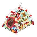 送料無料 オウムの巣 ネスト ハンモック 鳥おもちゃ 防風バードテント 柔らかい 暖かい マット付き 吊り下げ式 取り付け簡単 小動物用品 丈夫 耐久性 Lサイズ・・・