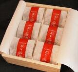 あまちゃづる入みなべの梅和紙個包装入り【木箱】6粒入
