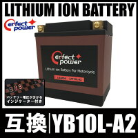 PERFECTPOWERリチウムイオンバッテリーLFP10L-A2互換YUASAユアサYB10L-A2DB10L-A2FB10L-A2FZR250RXV250ビラーゴGS250EGSX400FWGSX400EGSX400FSインパルスボルティーZ250FT