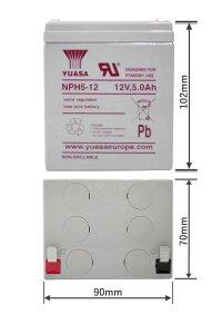 台湾YUASAユアサNPH5-12■小形制御弁式鉛蓄電池■シールドバッテリー■UPS■互換NP5-12PXL12050