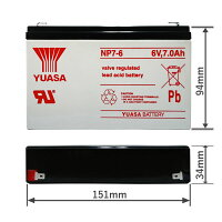 台湾YUASAユアサNP7-6■小形制御弁式鉛蓄電池■シールドバッテリー■UPS■互換PWRBC67KB670
