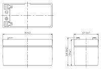 台湾YUASAユアサNP1.2-12■小形制御弁式鉛蓄電池■シールドバッテリー■UPS無停電電源装置■互換PE12V1.3F1PWL12V1.2