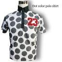SALE★もこもこワッペン水玉ポロシャツ/M−4Lスカル人気メンズゴルフウェアハーフパンツスカル大きいサイズ大きい