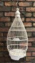 ◆鳥かご02 ホワイト◆(鳥籠・ディスプレイ・インテリア・バリ雑貨)