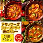 アマノフーズフリーズドライ畑のカレー3種類15食セット即席(容器付き)【あす楽対応】
