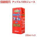 【紙パック ジュース】濃縮還元アップル果汁100%ジュース(