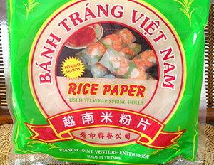 タイ料理、ベトナム料理などエスニック料理作りにベトナム・生春巻き ( ライスペーパー 22cm、...