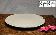 アジアン雑貨ジェンガラ社製食器中皿白色
