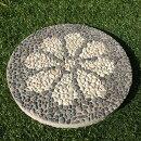 バリ島石材バリ島産洗い出しタイルO飛び石