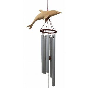 Carillon de vent de dauphin carillon de cloche grand [Bali produits divers asiatiques Bali Paradise]