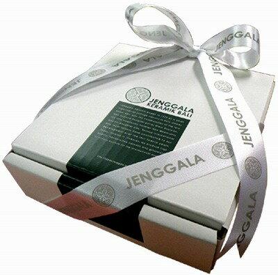 ジェンガラJENGGALA13.5×13.5cmスクエアプレート用ギフトBOX【バリ・アジアン雑貨バリパラダイス】