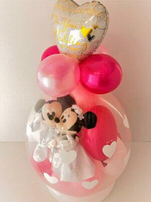 バルーン電報(電報)結婚式ディズニー♪ミッキー&ミニーのウェディング♪おしゃれなぬいぐるみ