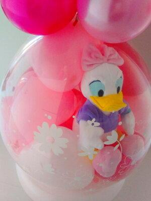 【Lサイズ】ディズニー♪ラブリーデイジーバルーンラッピング★本州送料無料★バルーン電報(祝電)結婚式・誕生日・出産祝いに♪発表会入学祝い入園祝い