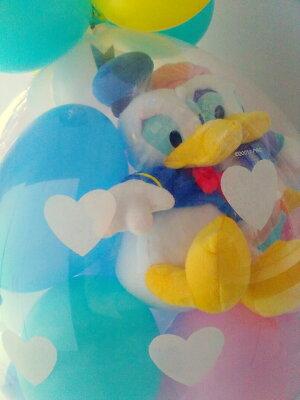 【ペアアレンジLサイズ】ディズニー♪ドナルド&デイジーバルーンラッピング★本州送料無料★バルーン電報(祝電)結婚式・誕生日・出産祝いに♪発表会入学祝い入園祝い