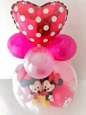 ミッキー&ミニーバルーンラッピング♪バルーン結婚式誕生日ディズニーバルーン電報電報祝電お祝いバルーンギフトディズニー1歳出産祝い発表会ぬいぐるみおしゃれ入学祝い・入園祝い