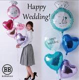 バルーン電報(電報)結婚式♪ウェディングリング♪♪ 送料無料 バルーン 祝電 結婚祝い 入籍祝い 2次会 装飾 おしゃれ