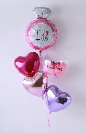 ★あす楽対応★バルーン電報(電報)結婚式♪ウェディングリング♪♪送料無料バルーン祝電結婚祝い入籍祝い2次会装飾