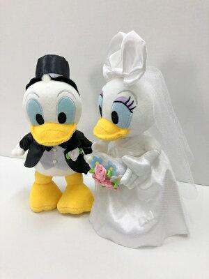 ★★★ドナルド&デイジーウェディング&バルーン★本州送料無料★バルーン電報(祝電)結婚式のお祝い・装飾に♪おしゃれなウェルカムドール・ウェルカムボードにも♪