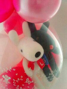 リサ&ガスパールバルーンラッピング★本州送料無料★バルーン電報(祝電)結婚式・誕生日・出産祝いに♪