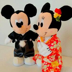 ★和装パステルバージョン★バルーン電報(電報)結婚式ディズニー♪ミッキー&ミニーのウェディング♪