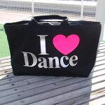 ダンスバッグ【送料無料】DANCE黒ZIP,ダンス衣装バッグ,ダンス用品,ダンスレッスンバッグ