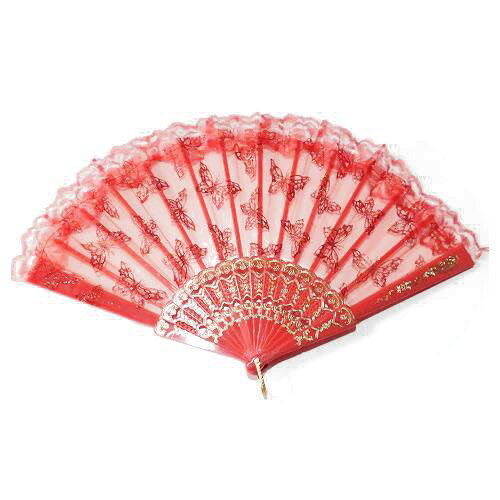 バレエ 扇子 キトリ 051赤蝶々,ドン・キホーテのキトリ,スペインの踊り,練習用,バレエ用品,ダンス小物