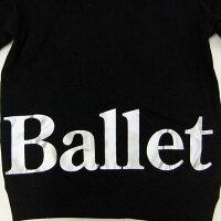 バレエジャージ,パーカー,黒Ballet,上着,子供大人用,ウォームアップウエア,バレエ用品