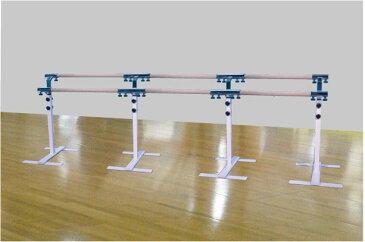 バレエレッスンバー宝品番,クリスタルバー プロユース ツインタイプ可動式3連ユニット バー3m TW-L300,スタジオ,教室,バレエ用品