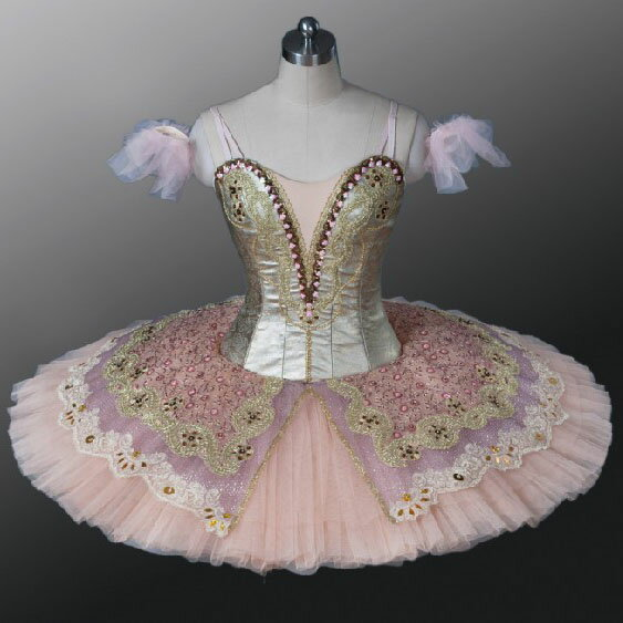 【レンタル】バレエ衣装 金ピンク,オーロラ姫,金平糖,ドルシネア姫,パキータ,オーロラの友人,ライモンダ, クラシックチュチュ,ヴァリエーション衣装